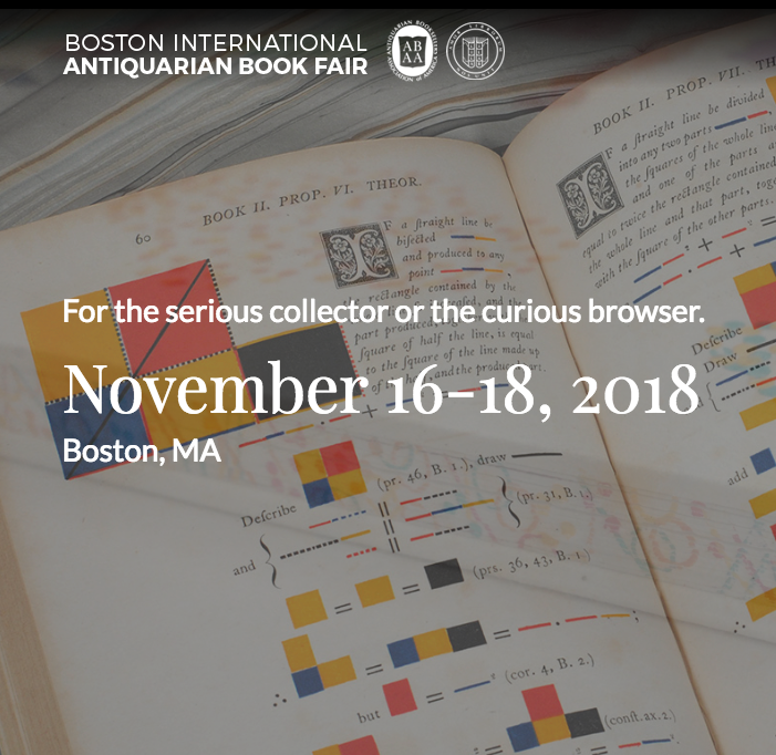 2018 Boston Antiquarian Book Fair