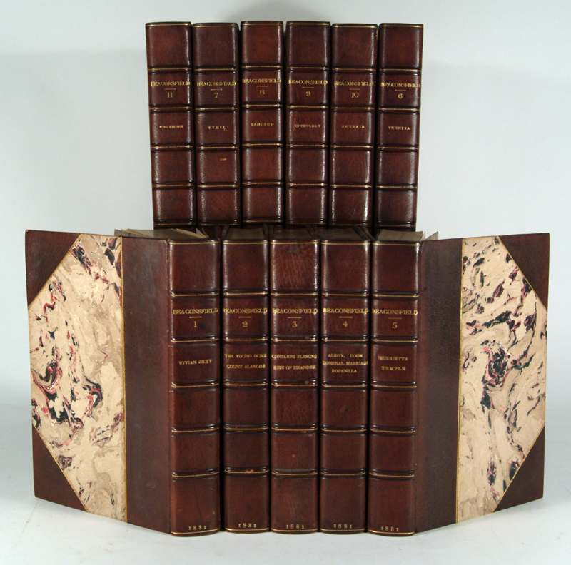 DISRAELI, BENJAMIN - Novels and Tales by the Earl of Beaconsfield, 11 Volumes