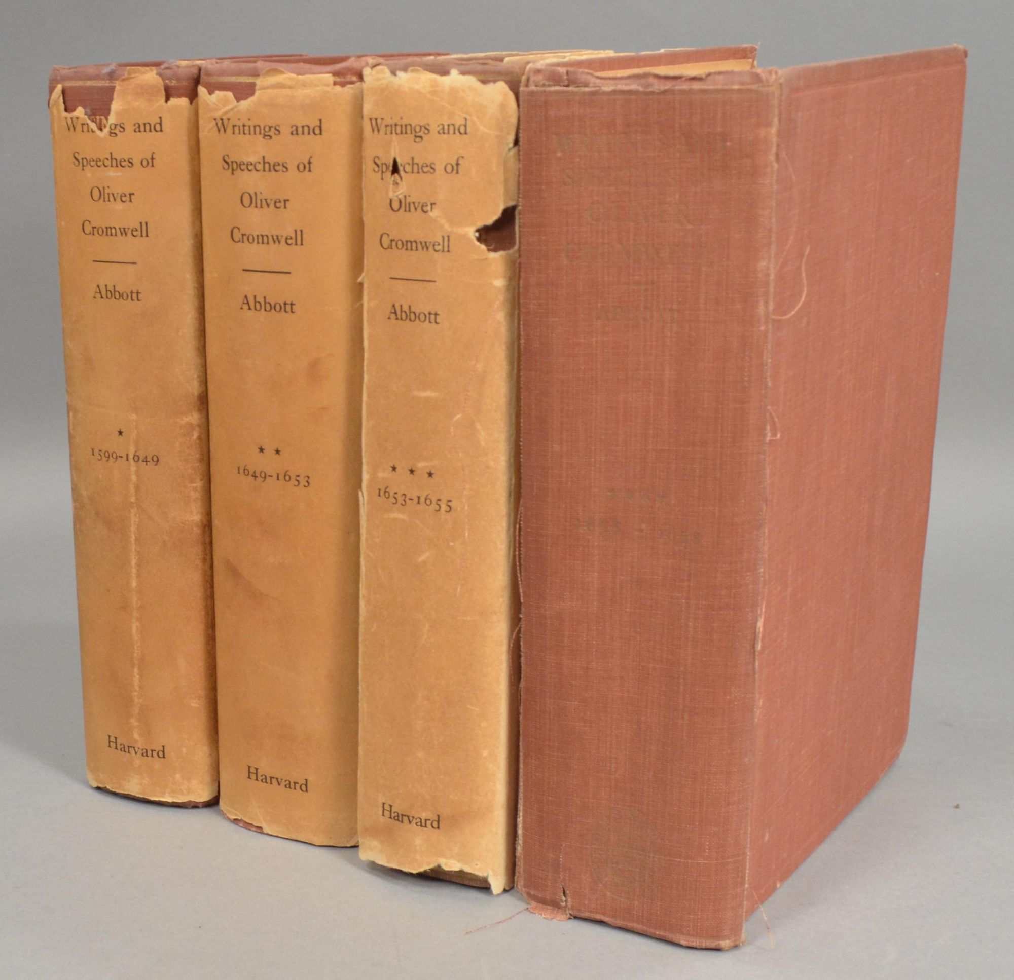 CROMWELL, OLIVER - Writings and Speeches of Oliver Cromwell, 4 Volumes