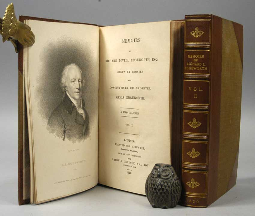 EDGEWORTH, MARIA - Memoirs of Richard Lovell Edgeworth, Begun by Himself and Concluded by