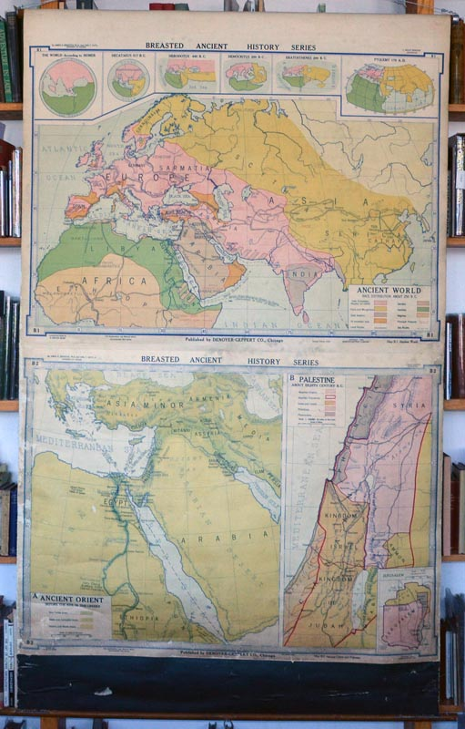 MAP - ANCIENT NEAR EAST - Breasted Anient History Series. B1, Ancient World... & B2, Ancient