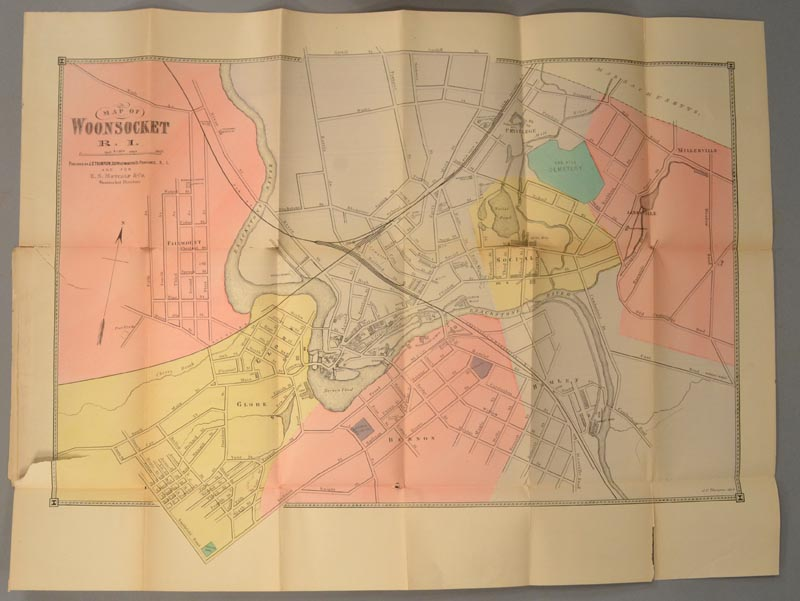 WOONSOCKET DIRECTORY - Woonsocket Directory 1886-87; Containing a General Directory of the