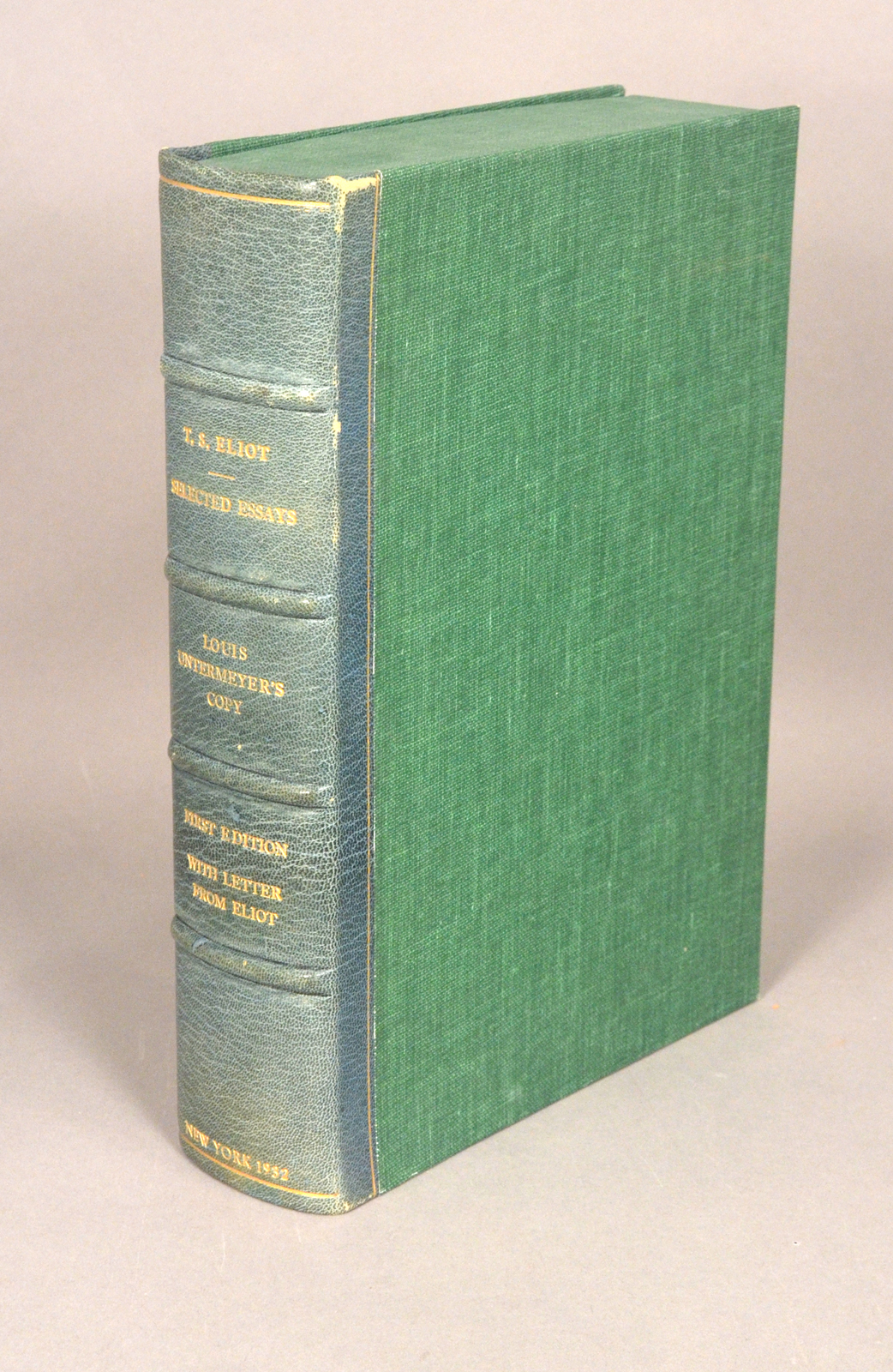 ELIOT, T. S. - Selected Essays 1917-1932