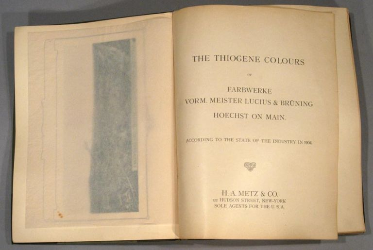THIOGENE COLOURS... ACCORDING TO THE STATE OF THE INDUSTRY IN 1904. TEXTILES - DYEING.
