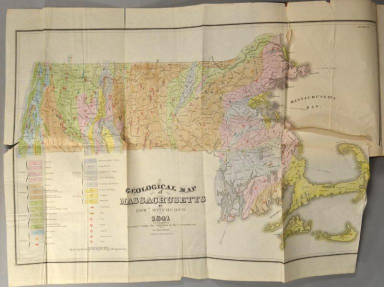 FINAL REPORT ON THE GEOLOGY OF MASSACHUSETTS IN FOUR PARTS. Edward HITCHCOCK.