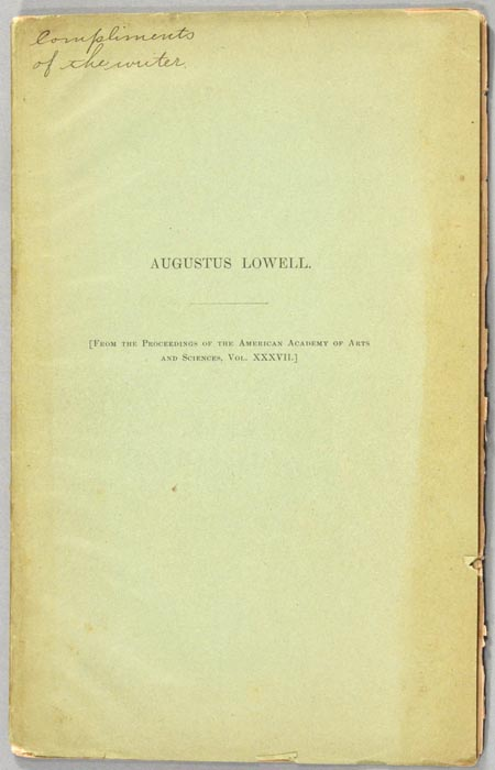 AUGUSTUS LOWELL. Percival LOWELL.