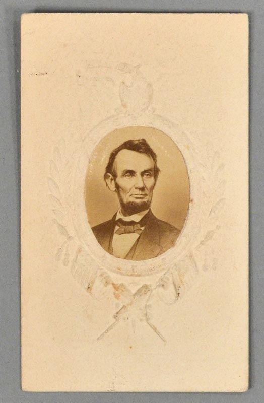 UNCOMMON CARTE-DE-VISITE PHOTOGRAPH OF ABRAHAM LINCOLN CA. 1865. Abraham LINCOLN.