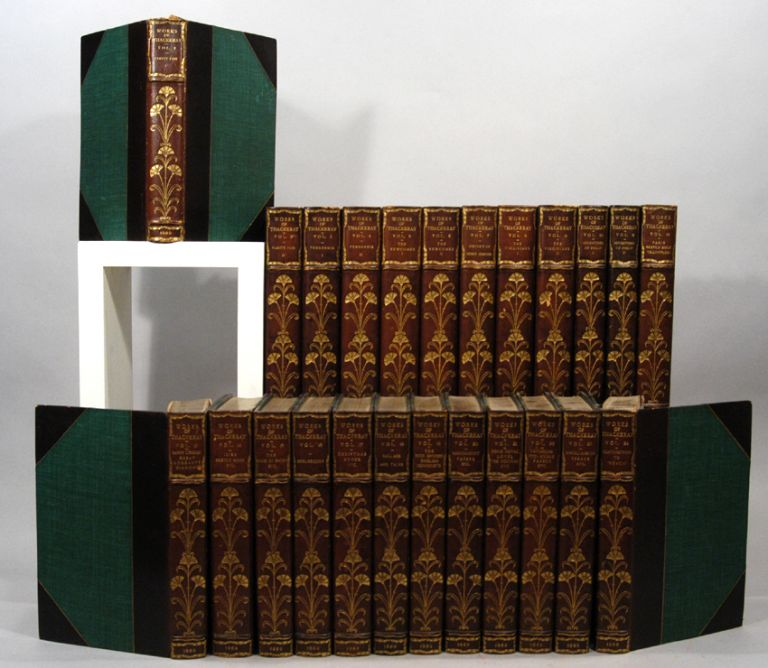 WORKS OF WILLIAM MAKEPEACE THACKERAY, 24 VOLS. William Makepeace THACKERAY.