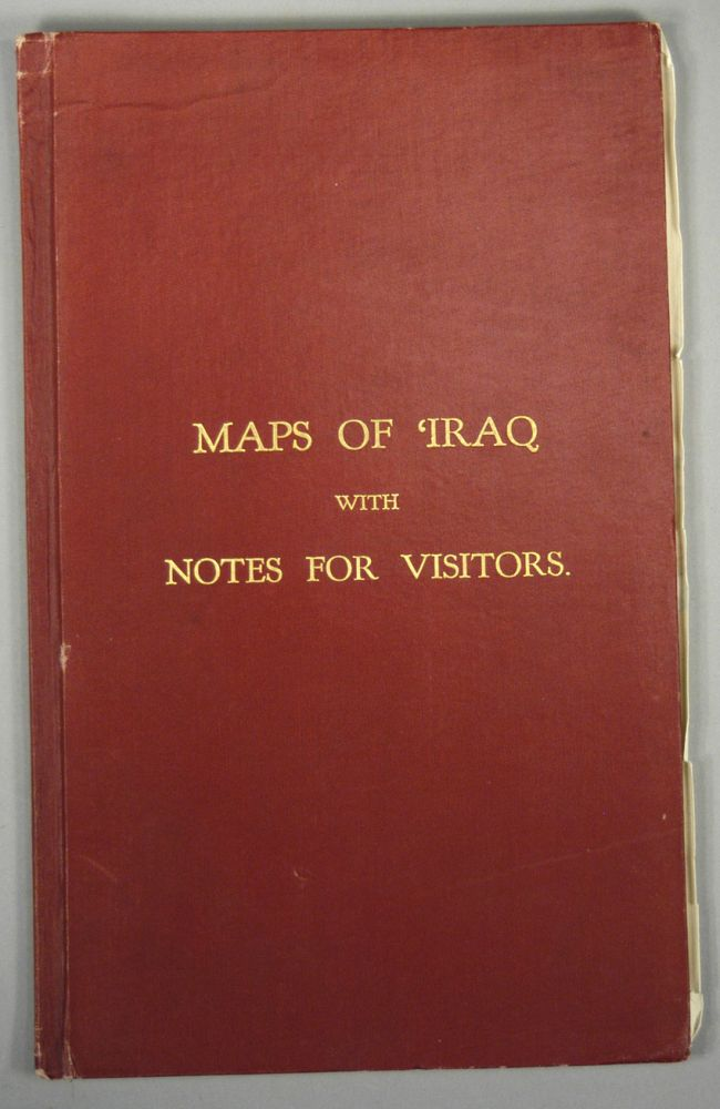 MAPS OF IRAQ WITH NOTES FOR VISITORS. Goverment of IRaq.