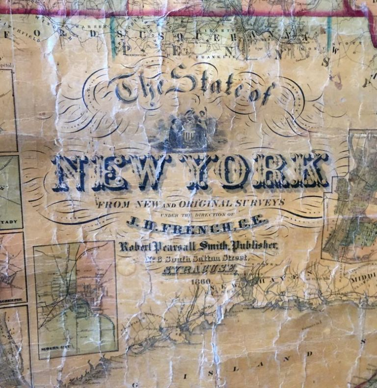 STATE OF NEW YORK FROM NEW AND ORIGINAL SURVEYS. MAP - NEW YORK STATE.