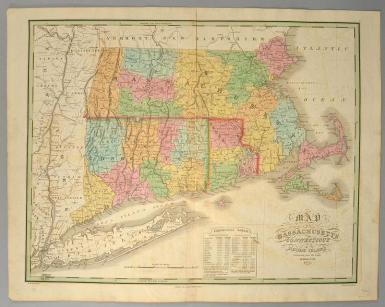 [MAP], MASSACHUSETTS, CONNECTICUT AND RHODE ISLAND. Anthony FINLEY.