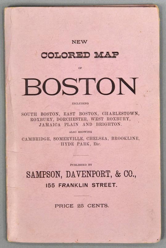 MAP OF BOSTON. 1883. PUBLISHED EXPRESSLY FOR THE BOSTON DIRECTORY. DAVENPORT SAMPSON, CO.