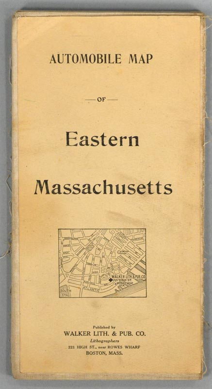 AUTOMOBILE MAP OF EASTERN MASSACHUSETTS. WALKER LITHOGRAPH AND PUBLISHING COMPANY.