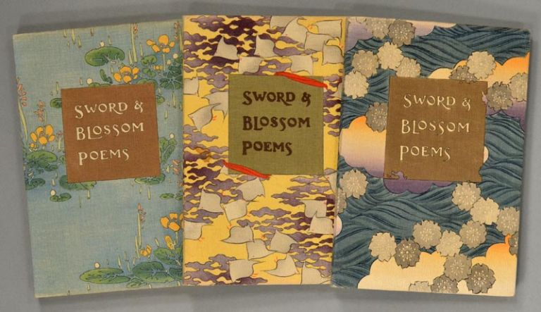 SWORD AND BLOSSON POEMS FROM THE JAPANESE. Crepe Paper Book, Kimura, transl Peake.