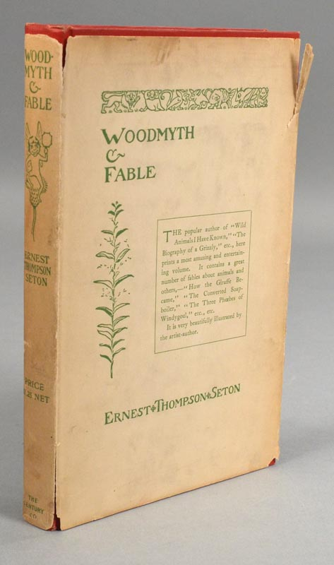 WOODMYTH & FABLE. Ernest Thompson SETON.