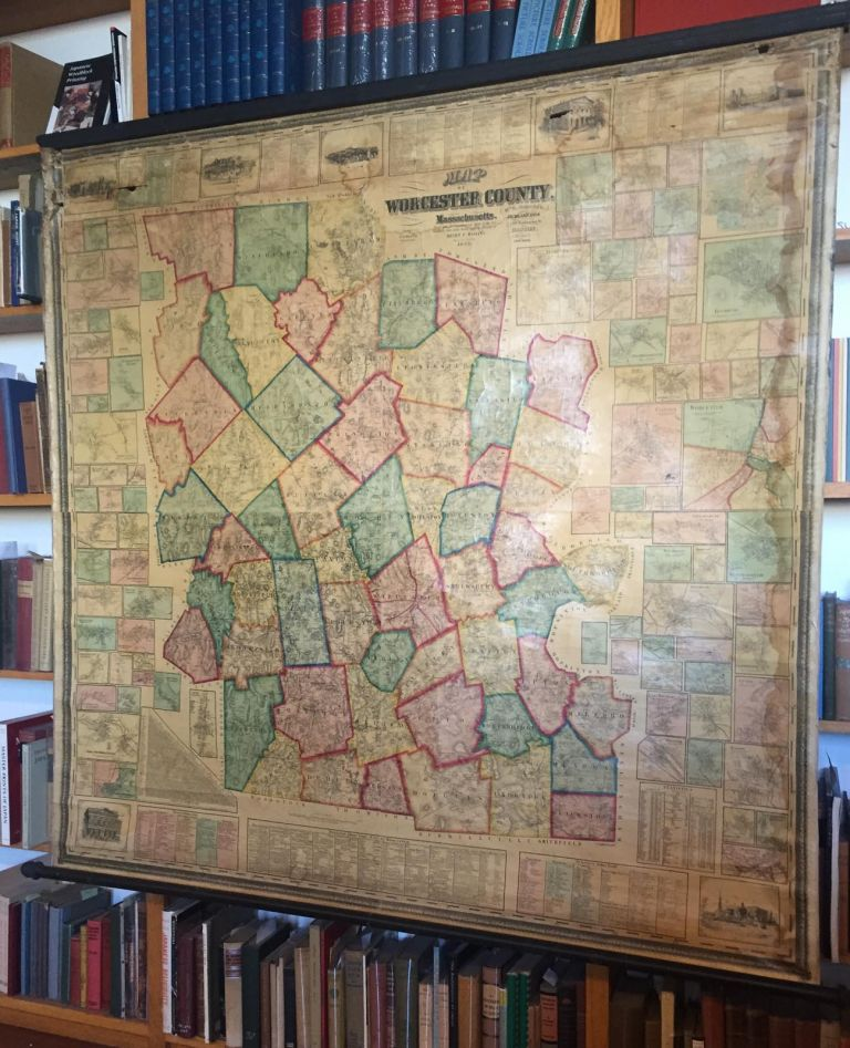 MAP OF WORCESTER COUNTY MASSACHUSETTS. MAP- WORCESTER COUNTY.
