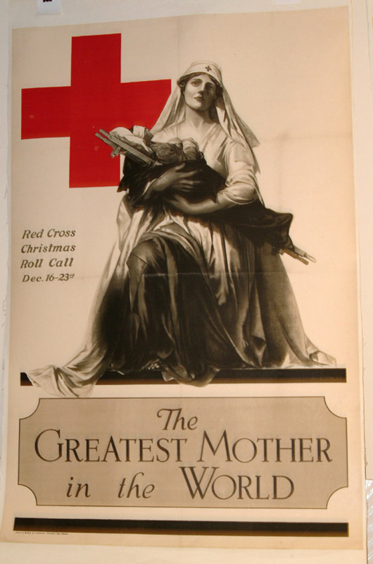 RED CROSS POSTER. WWI POSTER.