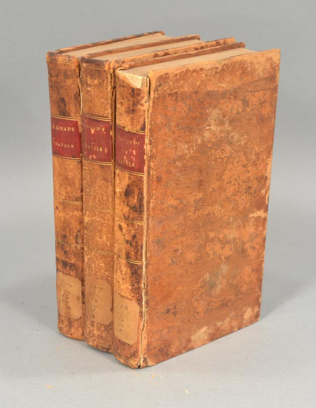 JOURNAL OF TRAVELS IN ENGLAND, HOLLAND AND SCOTLAND, 3 VOLUMES. Benjamin SILLIMAN.