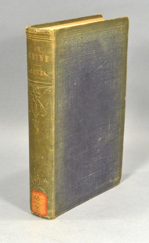 COMPOSITION OF THE URINE, IN HEALTH AND DISEASE, AND UNDER THE ACTION. Edmund A. PARKES.