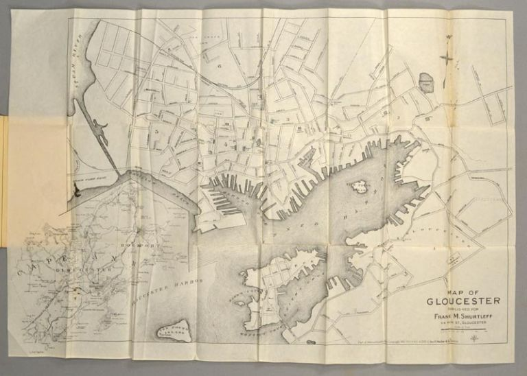 POCKET MAP OF GLOUCESTER CITY MASSACHUSETTS. FRANK M. SHURTLEFF.