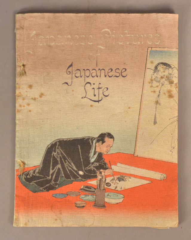 JAPANESE PICTURES OF JAPANESE LIFE. CREPE PAPER BOOK.