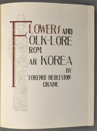 FLOWERS AND FOLK-LORE FROM FAR KOREA