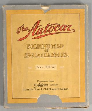 FOLDING MAP OF ENGLAND & WALES. AUTOCAR