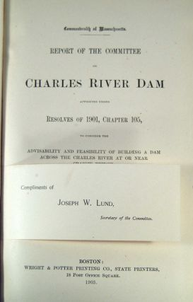 REPORT OF THE COMMITTEE ON CHARLES RIVER DAM