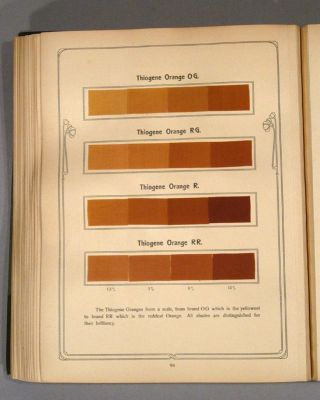 THIOGENE COLOURS... ACCORDING TO THE STATE OF THE INDUSTRY IN 1904