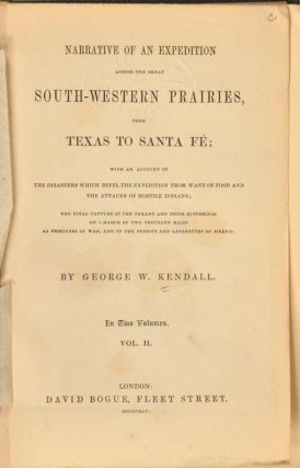 NARRATIVE OF AN EXPEDITION ACROSS THE GREAT SOUTH-WESTERN PRAIRIES,