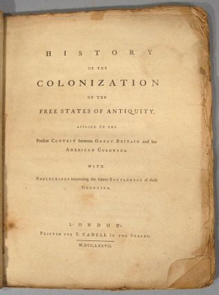 HISTORY OF THE COLONIZATION OF THE FREE STATES OF ANTIQUITY, APPLIED T