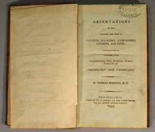 OBSERVATIONS ON THE NATURE AND CURE OF CALCULUS, SEA SCURVY, CONSUMPTION, CATARRH, AND FEVER