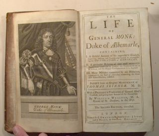 LIFE OF GENERAL MONK: DUKE OF ABERMARLE, & Richard Granville's JOURNAL