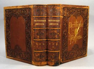 PICTURESQUE AMERICA, 2 VOLUMES. William Cullen BRYANT