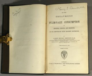 ON THE TREATMENT OF PULMONARY CONSUMPTION BY HYGIENE, CLIMATE, AND MEDICINE, IN ITS CONNEXION WITH MODERN DOCTRINES