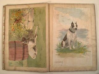 SAM'S PICTURE BOOK 1893 [HANDPAINTED CLOTH PICTURE BOOK]