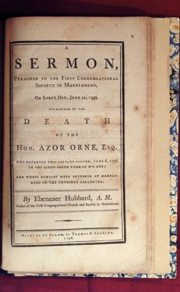 COLLECTION OF FIVE SERMONS, INCLUDING A DIRGE AND A MONODY