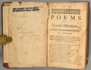 POEMS UPON SEVERAL OCCAIONS