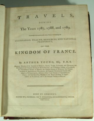 TRAVELS DURING THE YEARS 1787, 1788, and 1789