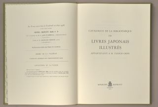 CATALOGUE DE LA BIBLIOTHEQUE DE LIVRES JAPONAIS ILLUSTRES. ASIAN ART - AUCTION CATALOGUE