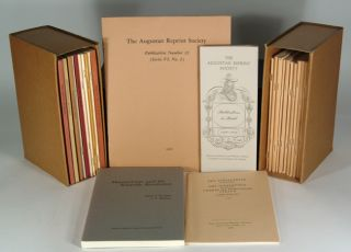 INTERRUPTED RUN OF PUBLICATIONS AND OCCASIONAL PAPERS, 1950-90. AUGUSTAN REPRINT SOCIETY