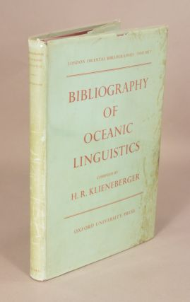 BIBLIOGRAPHY OF OCEANIC LINGUISTICS. H. R. KLIENEBERGER