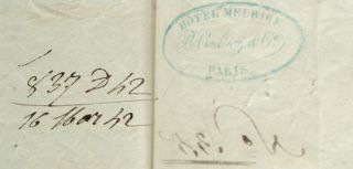AMERICAN PASSPORT SIGNED BY DANIEL WEBSTER AND EDWARD EVERETT CA. 1841