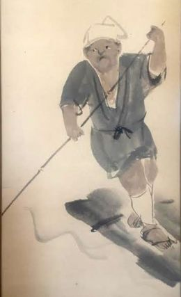 Painting of a boatman