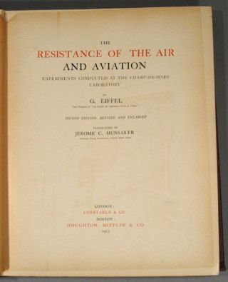 RESISTANCE OF THE AIR AND AVIATION: EXPERIMENTS CONDUCTED AT THE