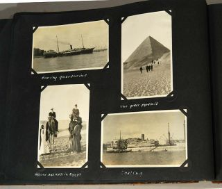 WORLD TRAVEL PHOTOGRAPH ALBUM, 1910-1911