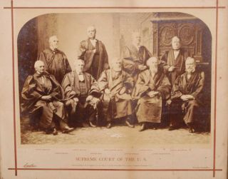 OVERSIZE PHOTOGRAPH: GROUP PORTRAIT OF SUPREME COURT JUSTICES, 1882. C. M. BELL