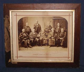 OVERSIZE PHOTOGRAPH: GROUP PORTRAIT OF SUPREME COURT JUSTICES, 1882