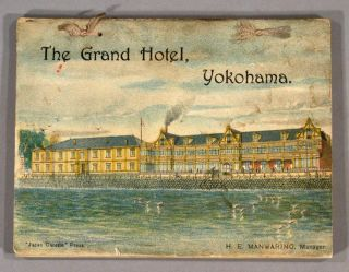 GRAND HOTEL, LIMITED ... YOKOHAMA AND VICINITY. TRAVEL - YOKOHAMA