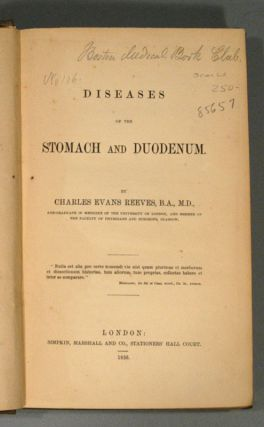 DISEASES OF THE STOMACH AND DUODENUM